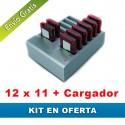 Oferta 12x11 avisadores de clientes + cargador
