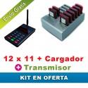 Oferta 12x11 avisadores de clientes + cargador + Transmisor