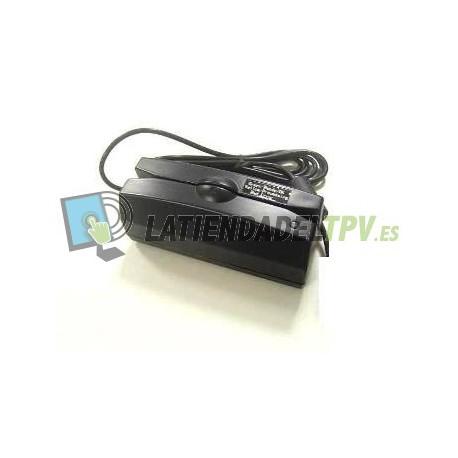 LECTOR BANDA MAGNETICA 3 PISTAS USB NEGRO