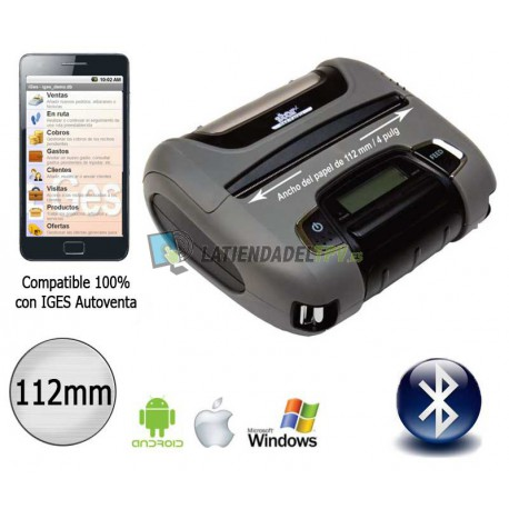Impresora portátil bluetooth para IOS y Android 112mm